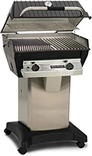 product image for Broilmaster R3b Infrared Combination Propane Gas Grill On Stainless Steel Cart