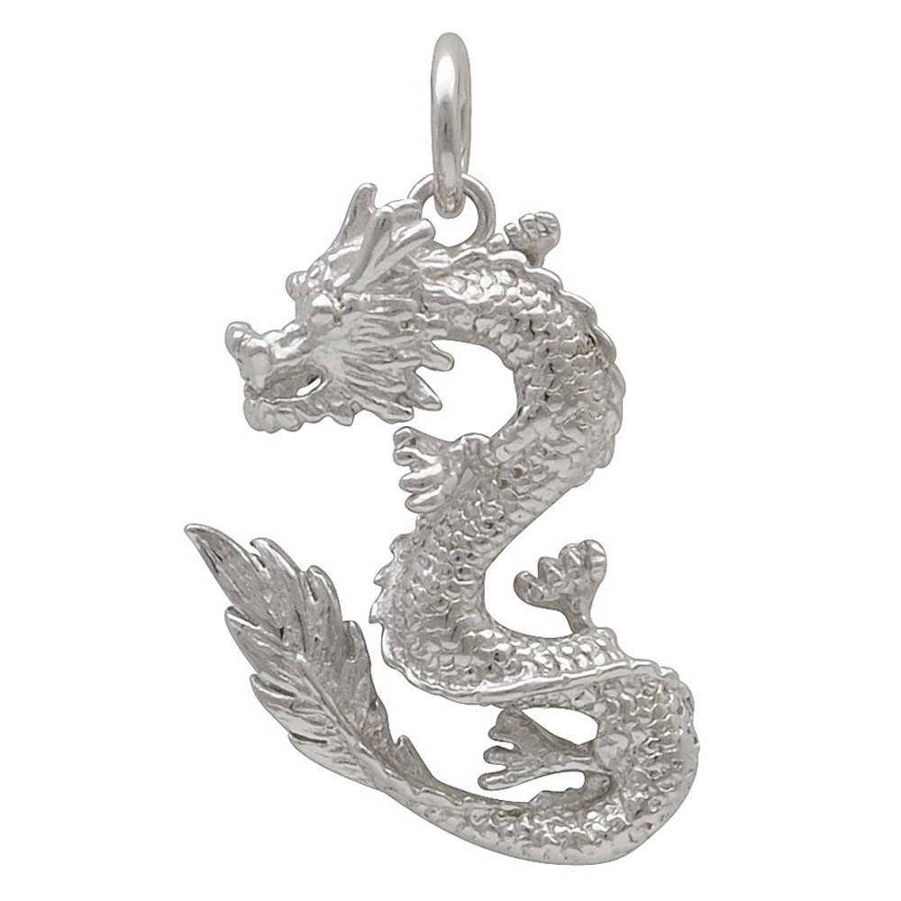 Anhänger Drache Dragon aus 925 Sterling Silber rhodiniert Unisex Silberanhänger Schmuck-Krone - Silberschmuck 100060