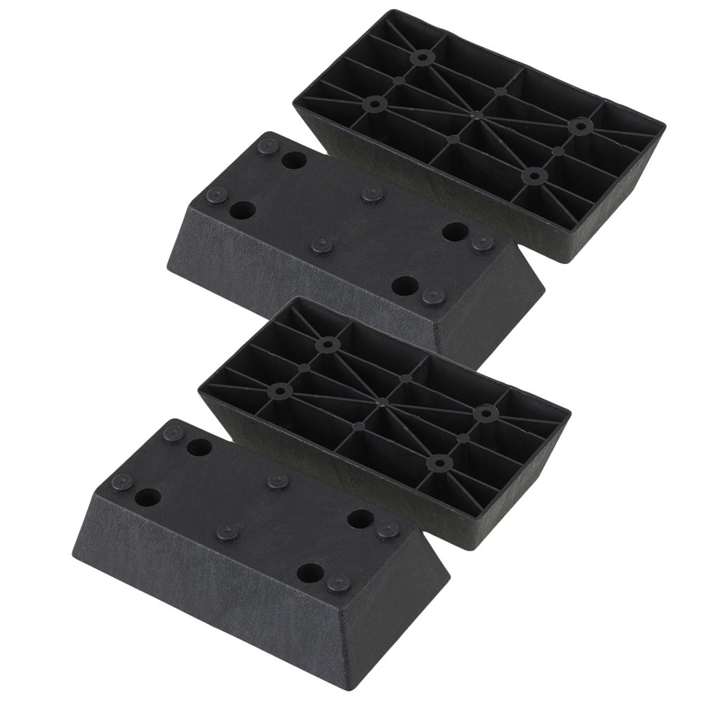 40mm Height Black Plastic Furniture Legs, Sofa Couch Desk Table Replacement Parts Set of 4