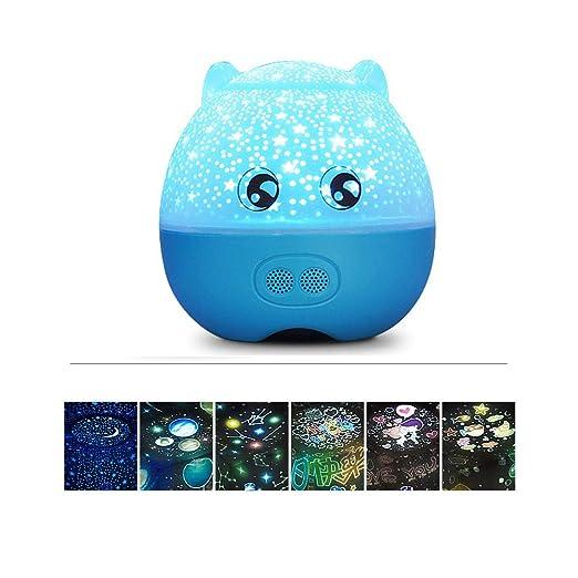 ZHANG Luces nocturnas para niños, lámpara de proyector Ocean ...