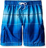 Kanu Surf Men's Big Vector Plaid Extended Size Swim Trunks, Royal, 2X