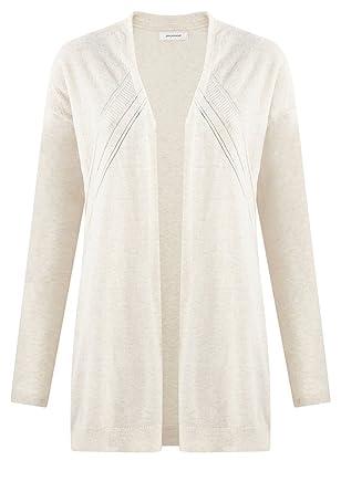 8eb2497b069b Promod Long Gilet Femme Ecru S  Amazon.fr  Vêtements et accessoires