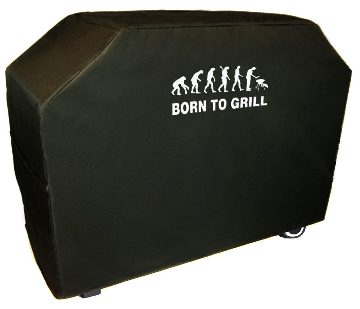 Ferocity Delux Grillabdeckung Top Qualitä t, Wasserdichter BBQ Schutz Outdoor Grill Garten Terrasse Schwarz S 105 cm [084]