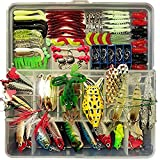 Fishing Lure Set Artificial Bait Lure Plastic Fishing Lures Minnow Popper Pencil Crank Rattle with Hooks Metal Spoon Hard Baits Fresh Water