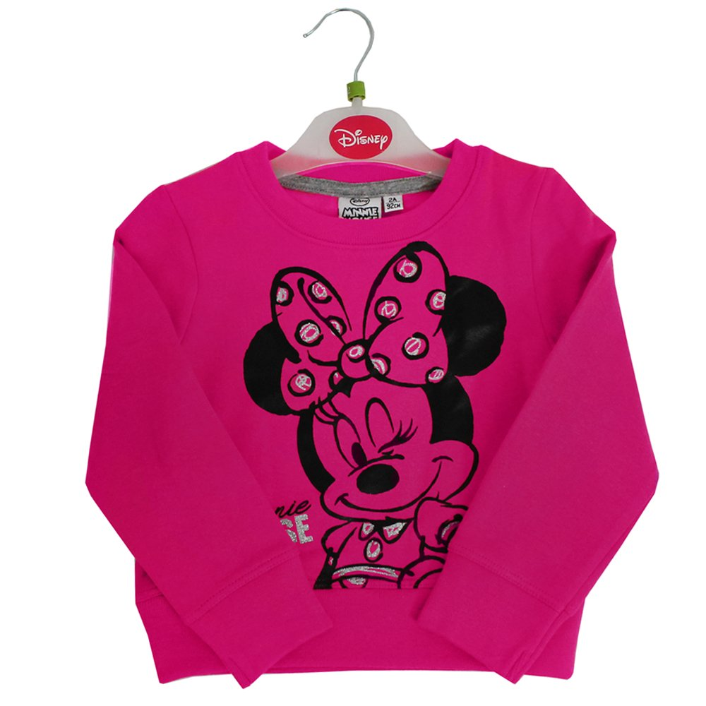 Official Licensed Disney Baby Minnie Mouse Kid's Girl's Full Sleeves Sweatshirt