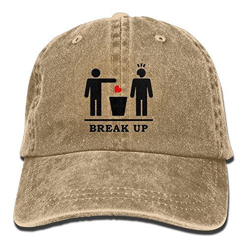 ChuanYuan Break up Broken Heart Adult Adjustable Printing Cowboy Baseball Leisure Hat