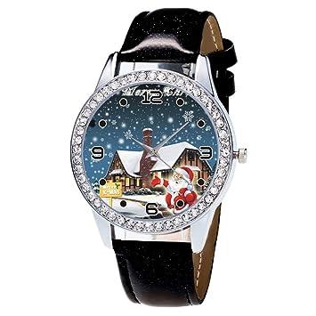 Moonuy 1pc Uhren Fur Frauen Uhr Weihnachten Leder Uhr Diamant Band