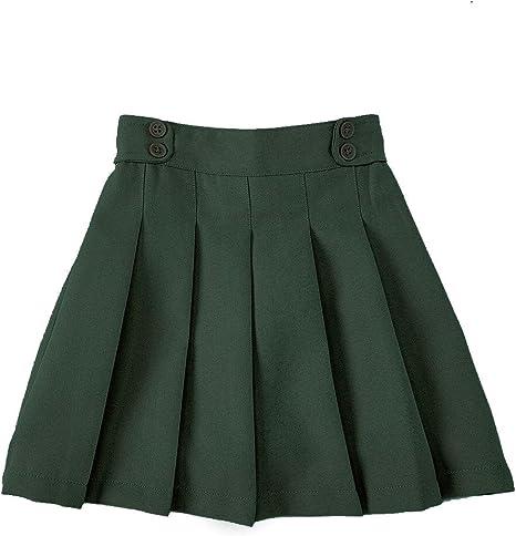 Freebily Kids Girls School Uniform Skorts A-Line Skater Tennis School Dance Pleated Scooter Skirt with Hidden Shorts