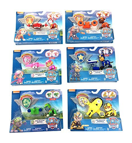 Nick Jr Paw Patrol Air Rescue Pack Pup Action Figure Bundle Set of 6. (works with Air Patroller) by Nickelodeon by Nickelodeon (Image #2)
