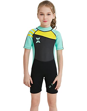 3fe631c183 Dark Lightning Kids Wetsuit, 2mm Neoprene Thermal Swimsuit, Youth Boy's and  Girl's One Piece