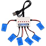 Youcute 6pcs 3.7v 200mah Official Battery and 1to6 Charger for syma X13 X11 X11C Rc Quadcopter Drone Spare Parts