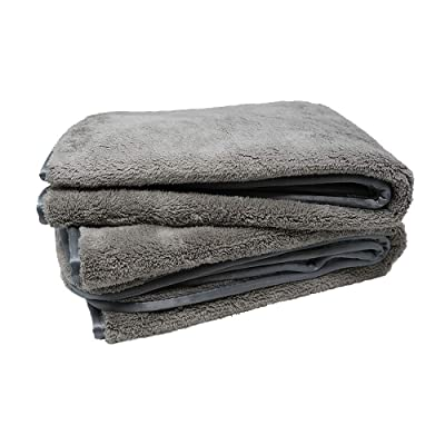 "Platinum Quick Dry Towel - Scratch-Free, Plush, Silk Edges, Large Size - Pack of 2 (25 1/2"" x 36""): Automotive"