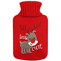 Rubber Hot Water Bottle Small Size with Lovely Deer - 500ML