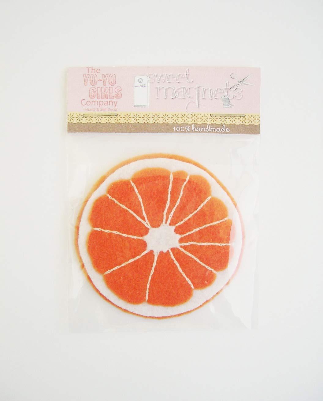 Imán de fieltro Rodaja de Naranja: Amazon.es: Handmade