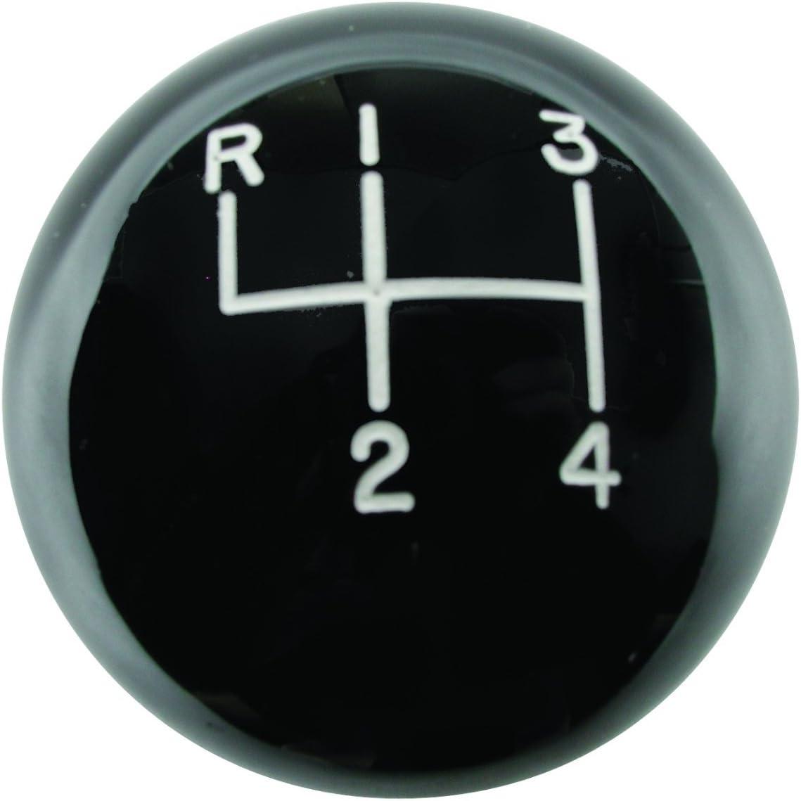 "Hurst 1630003 4 Speed Engraved Pattern White Shifter Knob Ball  3//8/"" x 16 Thread"