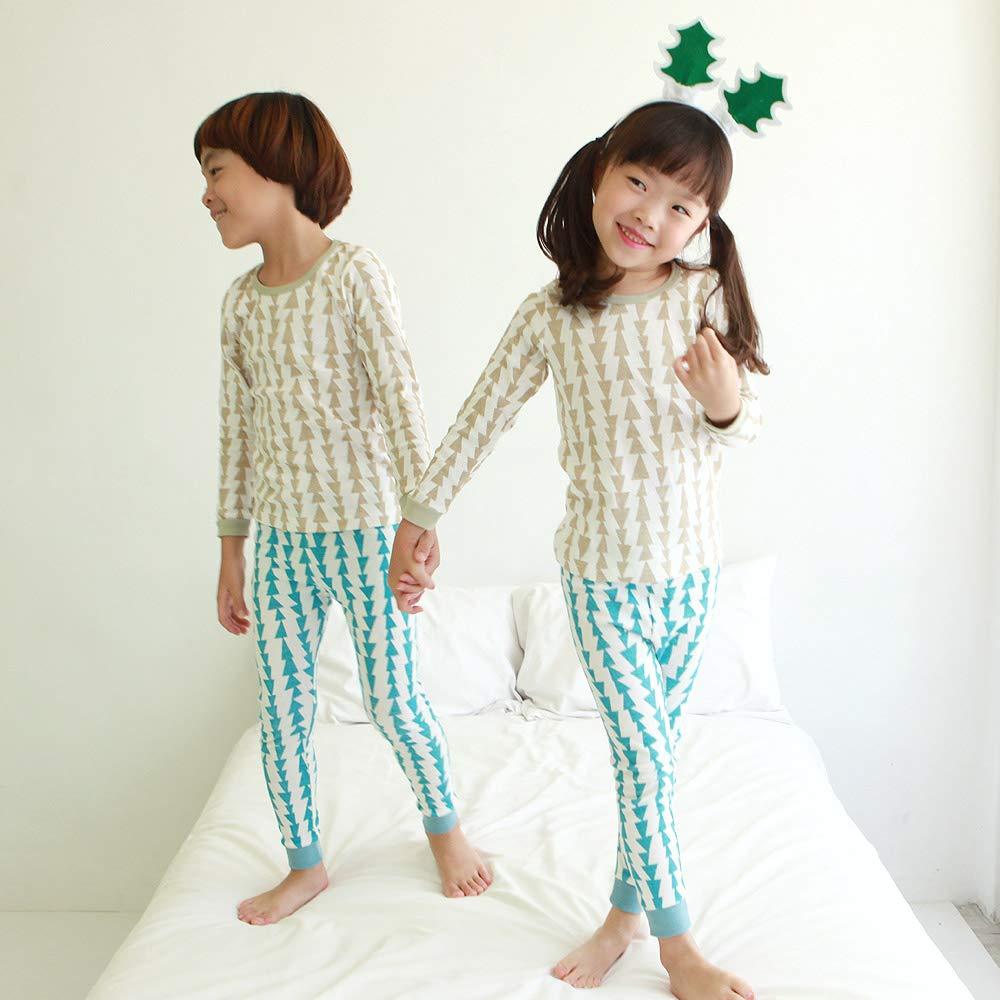 Long Sleeve 3T-12Y OllCHAENGi Toddler Babys Kids Boys Girls 100/% Cotton Pajama Set Pjs