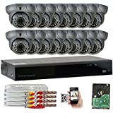 GW Security 16CH HD 1920 x 1080p Outdoor Indoor 4-in-1 DVR Security System with (16) x 1920TVL 2.8-12mm Varifocal Zoom Lens 1080P Dome Cameras, QR Code Remote Access