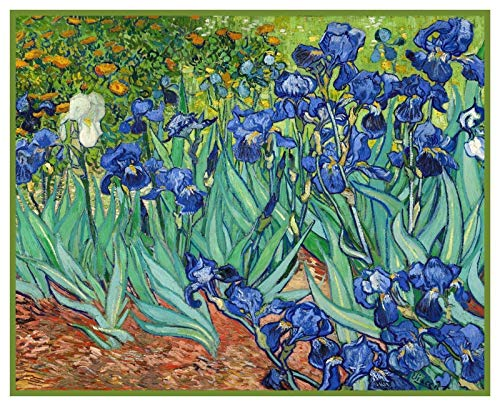 (Orenco Originals Iris Flowers Vincent Van Gogh Counted Cross Stitch Pattern)