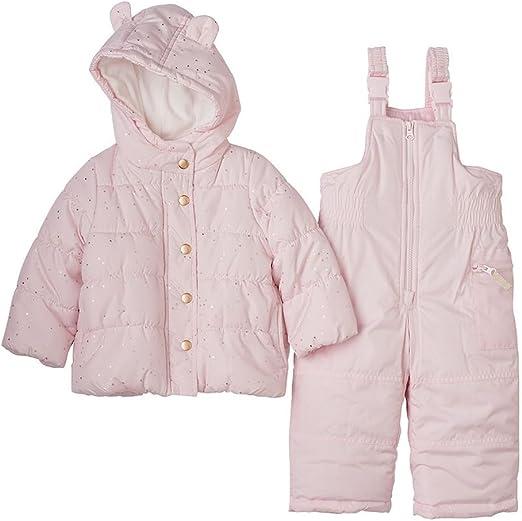 Ex Chain-store Pink Baby Girls Snowsuit Pramsuit Coat 0-12 Months