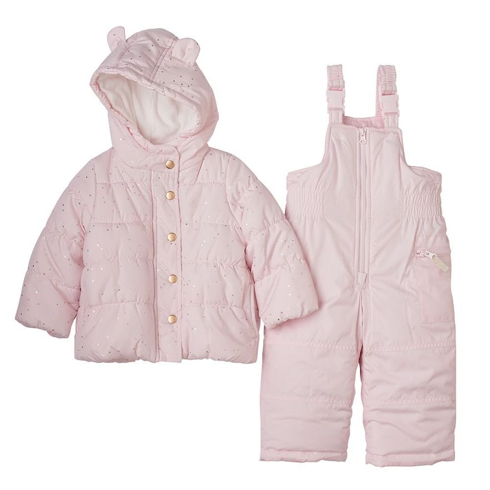 4373711de Amazon.com  Carter s Baby Girls Two Piece Snowsuit-Light Pink With ...