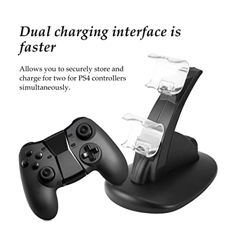 Amazon.com: Base de carga USB doble para Playstation de PS4 ...