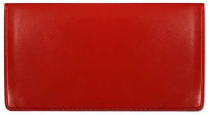 amazon com red vinyl checkbook cover check registers office