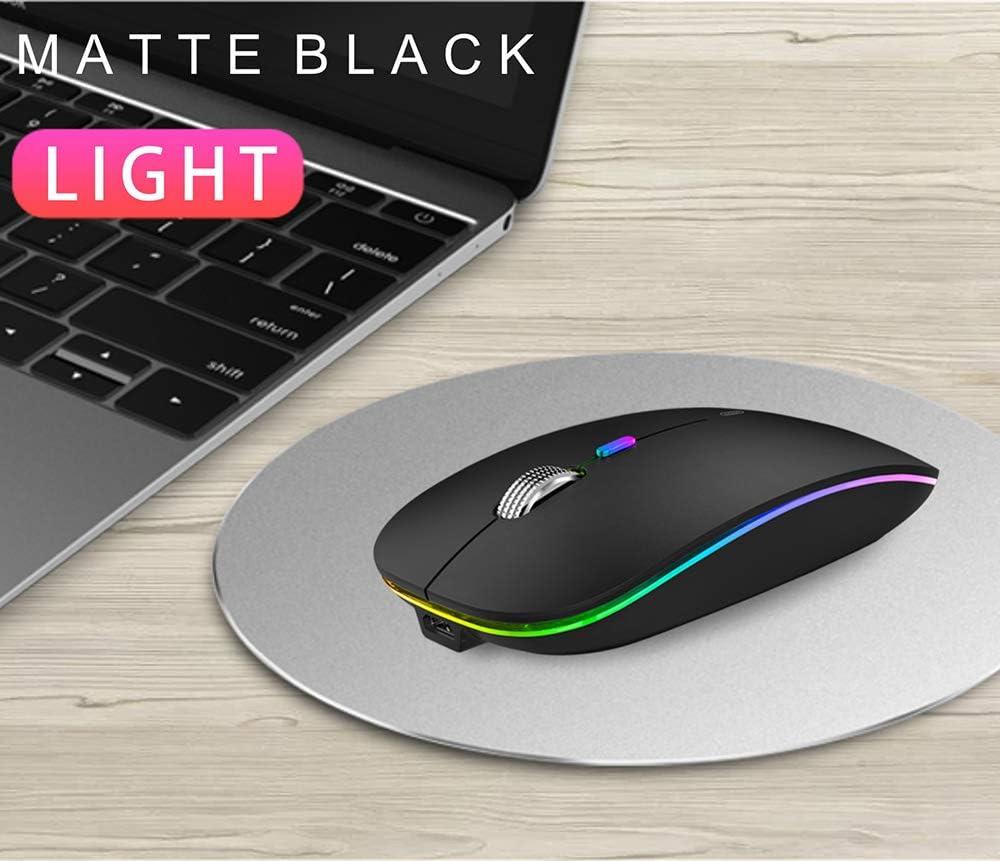 Slim Ordinateur Portable Optique Wireless Mouse avec r/écepteur Nano Souris USB pour PC//Tablet//Laptop//MacBook Noir Coener Souris sans Fil