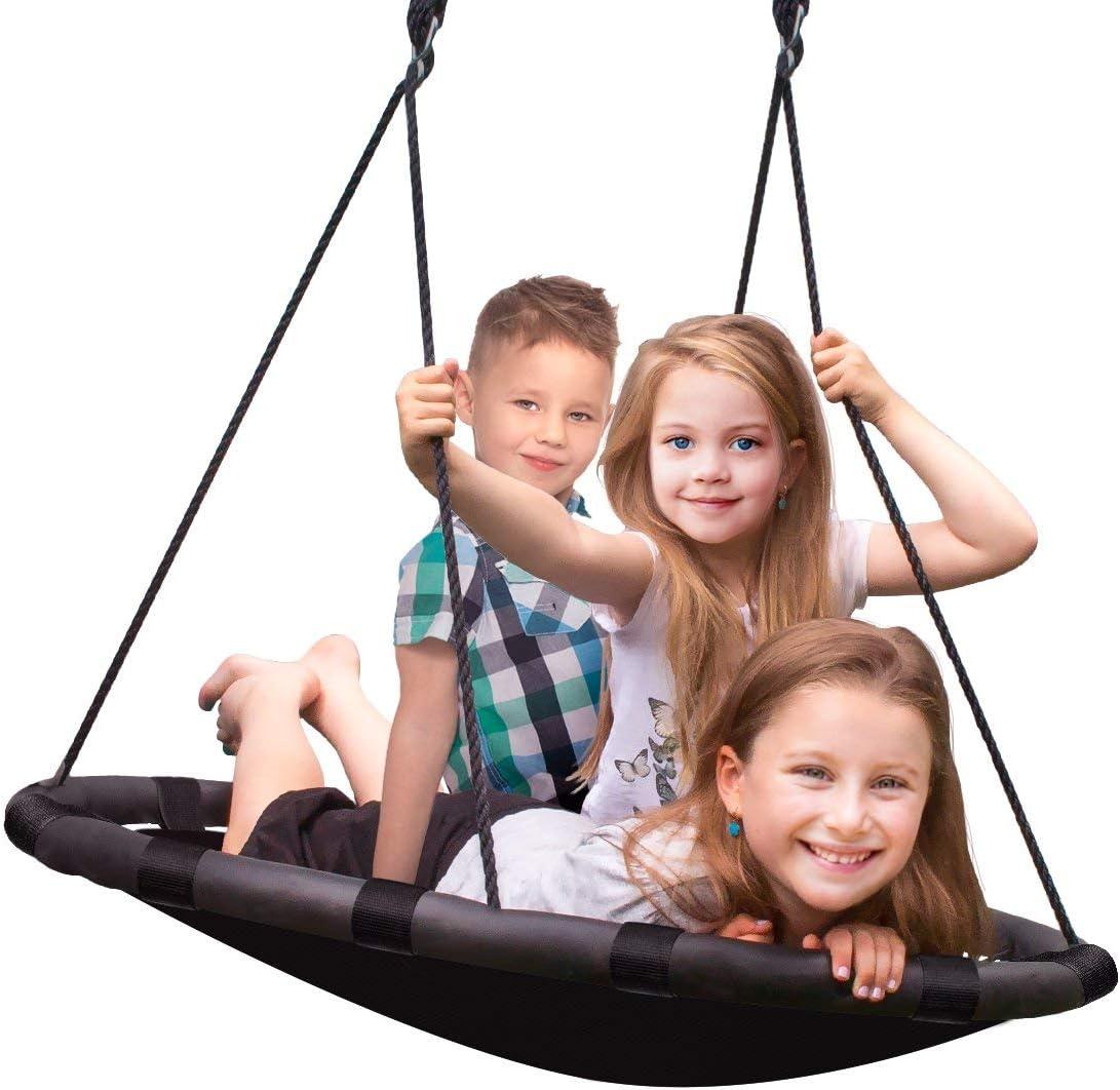 Sorbus Spinner Swing Kids Indoor Outdoor Round Mat Swing Great