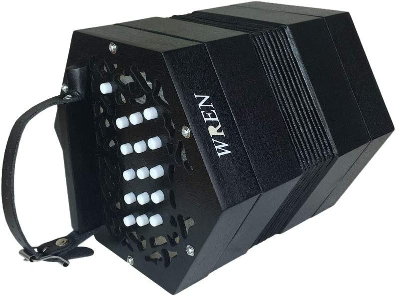 Wren 2 Anglo 30-Buttons C/G Concertina Accordion with Hard Case