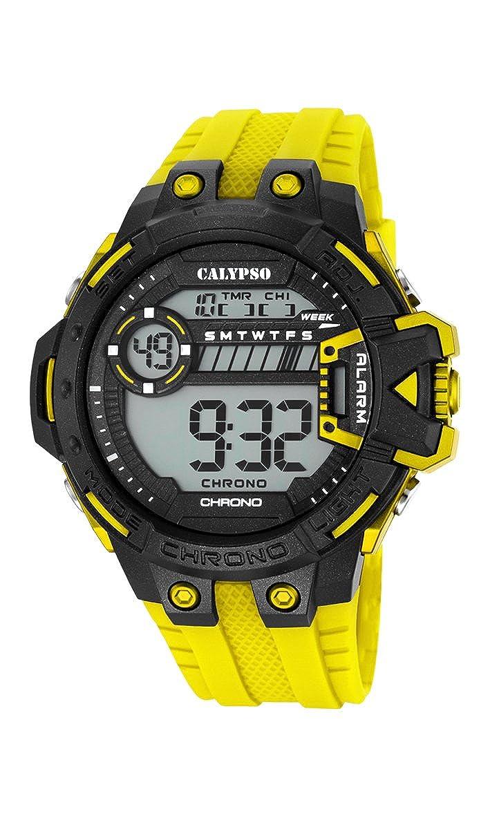 Calypso Watches Reloj Digital para Hombre de Cuarzo con Correa en Caucho K5696_1