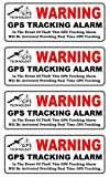 """4-Pcs Distinguished Popular Back Adhesive Warning GPS Tracking Alarm Stickers Sign Motorcycle Door Reflective Home Size 4.5"""" x 1.5"""""""