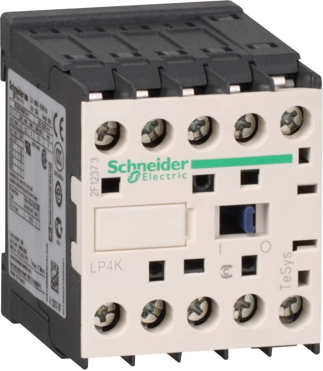 Schneider Electric LP4K09015BW3 TeSys K Conector, 3P, 3NA, AC-3 - <= 440V 9A - 24V Bobina CC, 58mm x 45mm x 57mm