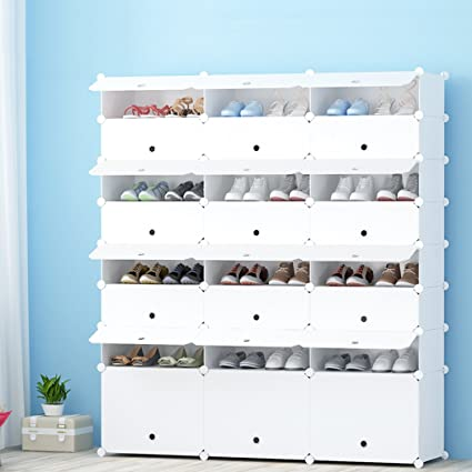 JOISCOPE Portable Shoe Storage Organzier Tower, Modular Cabinet For Space  Saving, Shoe Rack Ideal