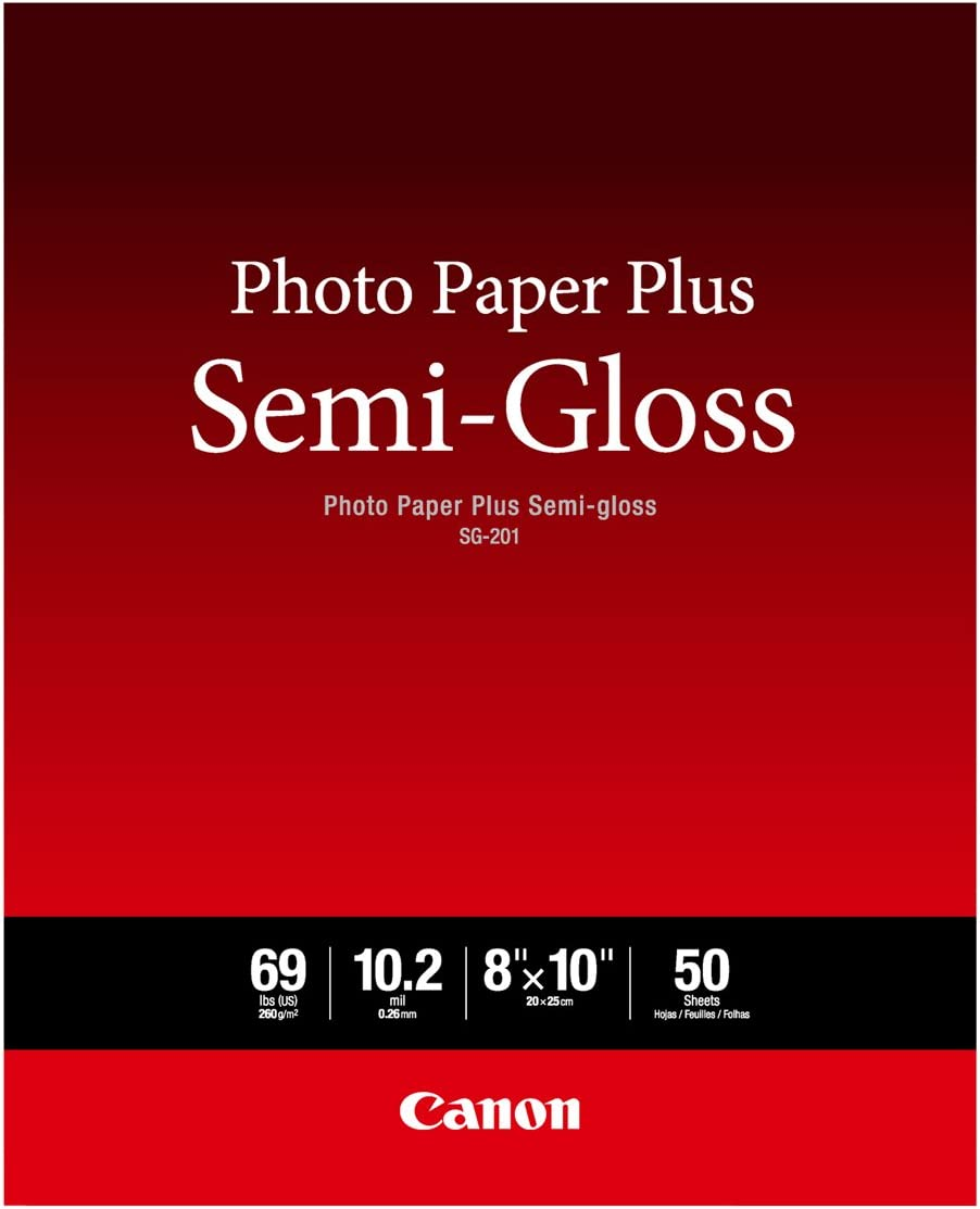 "Canon Photo Paper Plus Semi-Gloss 8"" x 10"" (50 Sheets) (SG-201 8X10)"