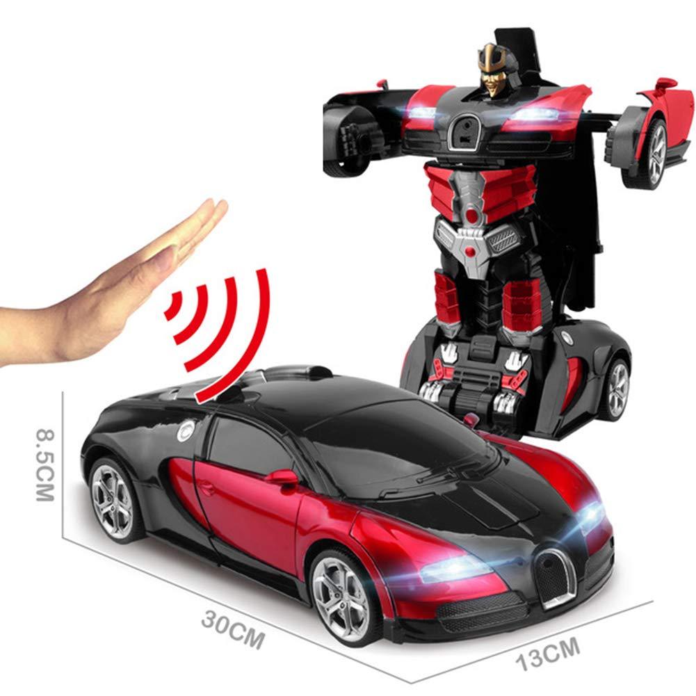 JIAAE Telecomando Auto Gesto di Rilevamento Auto E Transformers Telecomando 1:14 Rapporto Simulazione Auto da Corsa Modello, Blue [Classe di efficienza energetica A]