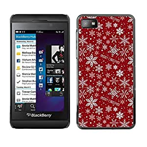 chen-shop design YOYO Slim PC / Aluminium Case Cover Armor Shell Portection //Christmas Holiday Red Pattern 1207 //Blackberry Z10 high quality