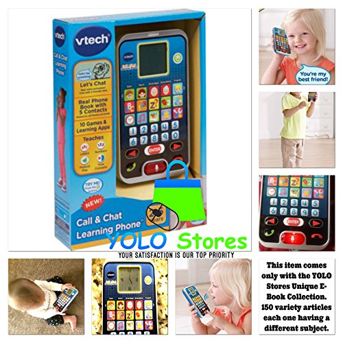 YOLO Stores Smart Phone Baby Toys Mobile Cell Kids Cellphone Activity Swipe Game Pretend Call & Chat, Talking Playing