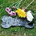 "Stonelite Hand Carved GraniteDog Headstone Pet Memorial Grave Marker Stone Tombstone Ideal for Garden Yard 8.7""x4.3"""