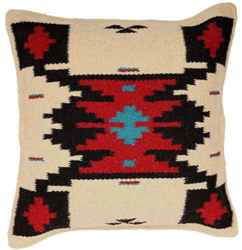 Cheap El Paso Designs Throw Pillow Covers 18 X 18- Hand Woven Wool in Southwest, Mexican, and Native American Styles- Hand Crafted Western Decorative Pillow Cases in Wool. (Gaagii)