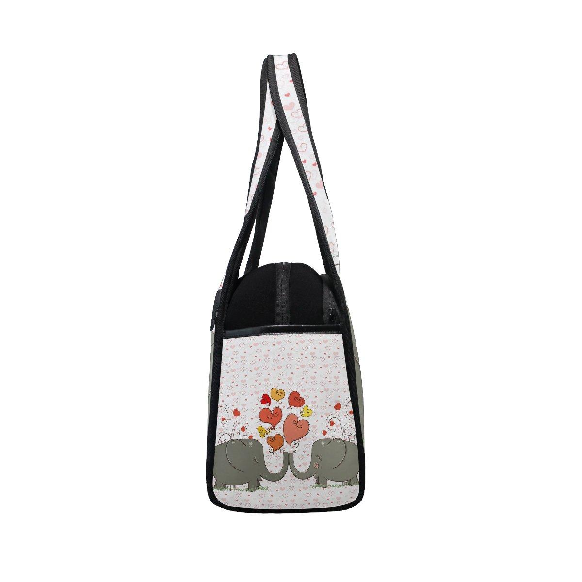 AHOMY Sports Gym Bag Elephant Love Heart Duffel Bag Travel Shoulder Bag by AHOMY (Image #3)