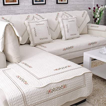 Strange Embroidery Cotton Sectional Couch Slipcover Protector Anti Alphanode Cool Chair Designs And Ideas Alphanodeonline