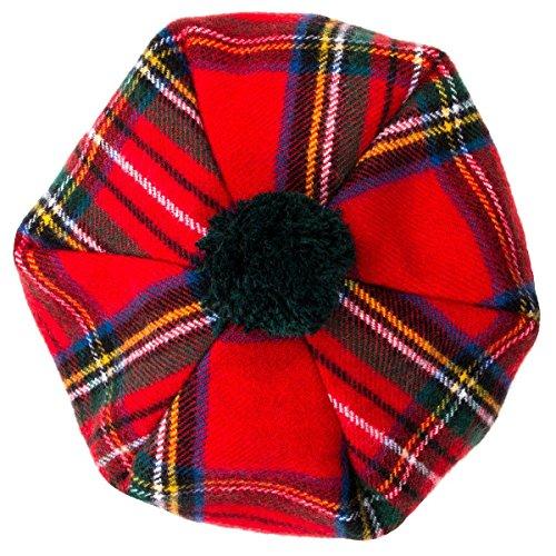 Oxfords Cashmere Scottish Tam with PomPom. Royal Stewart