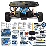remote control arduino - Adeept 2-Wheel Self-Balancing Upright Car Robot Kit for Arduino UNO R3, MPU6050 Accelerometer Gyroscope Sensor + TB6612 Motor Driver, Obstacle Avoidance + Android APP Remote Control, Robot Starter Kit