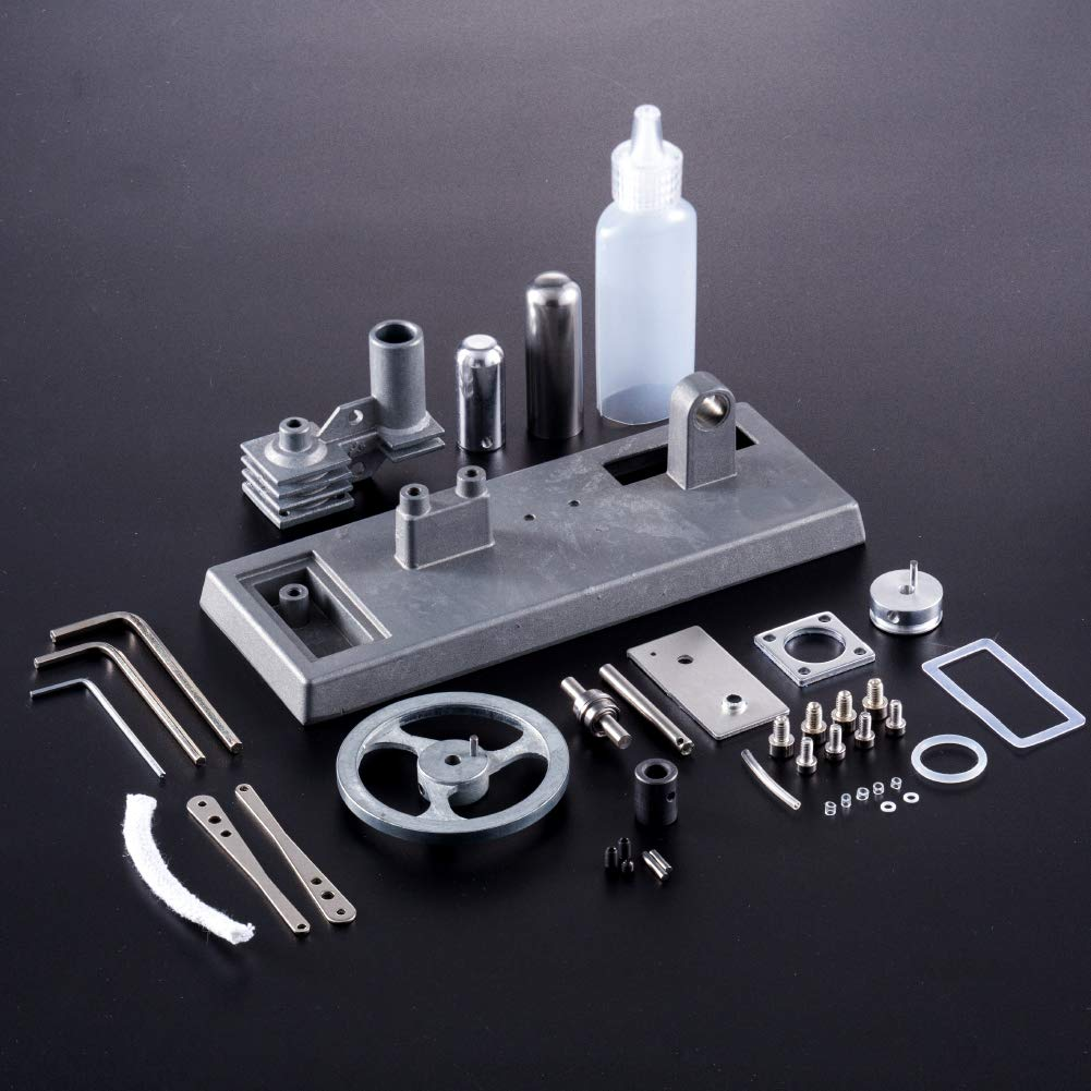 At27clekca QX6 DIY Assembly Low Temperature Stirling Engine Hot Power Generator Steam Heat Education Motor Physical Model Toy Kit by At27clekca (Image #3)