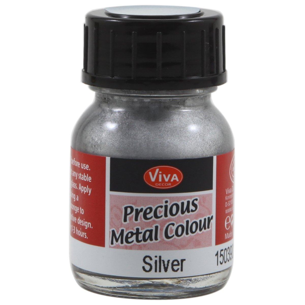 Viva Decor Precious Metal Color 25ml-Silver by Viva Decor