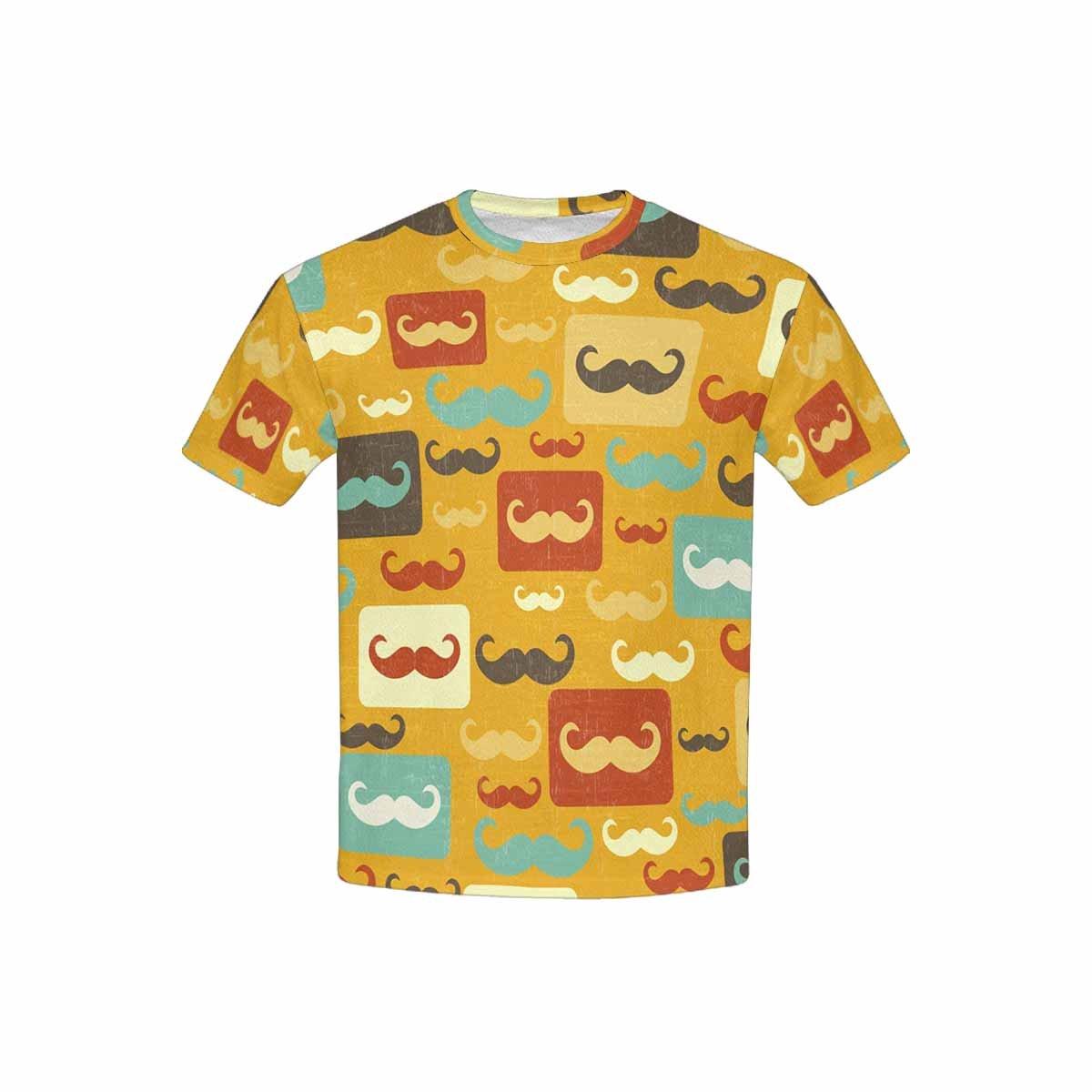 XS-XL INTERESTPRINT Youth Crew Neck T-Shirt Mustache