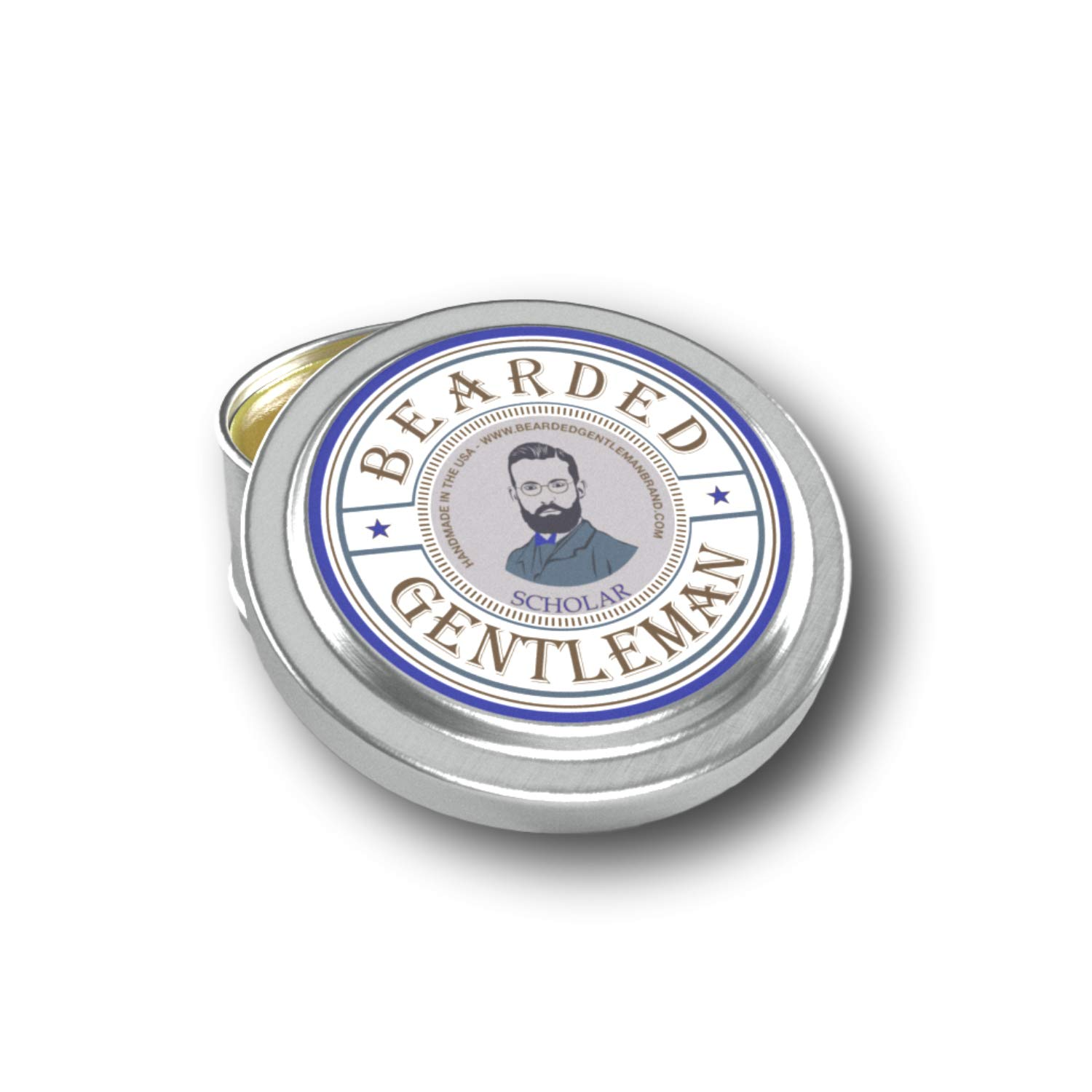 Bearded Gentleman Scholar Men's Solid Cologne - Vanilla Tobacco - 1 oz - Natural Ingredients in a Travel Sized Pocket Tin - Best Smelling Scent and Fragrance - Perfect Gift - Handmade in the USA