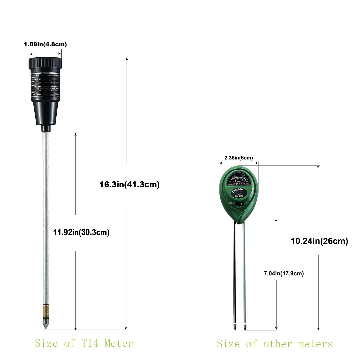 XLUX Super Long Probe Soil Moisture Meter Tester Sensor by XLUX (Image #4)