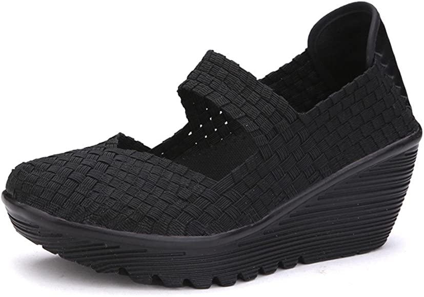 Ruiatoo Women's Platform Wedge Sandals