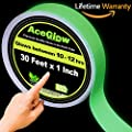 Glow In The Dark Fluorescent Tape 30 Ft Length X 1 Inch Wide Premium Quality Non Toxic 12 Hour Glow Sticks Easily Waterproof Perfect For Home And Office Use